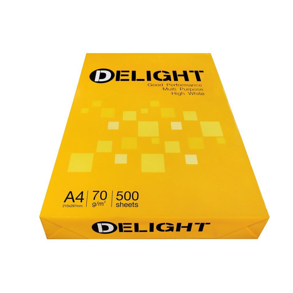 กระดาษถ่ายเอกสาร Delight A4 /70 แกรม