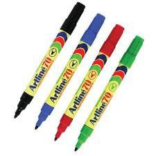 ปากกาเคมีหัวกลม Artline EK-70 สีแดง 1.5 มม.