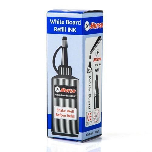 หมึกเติมปากกาเคมี ตราม้า สีน้ำเงิน 30 cc.