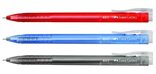 ปากกาลูกลื่น Faber Castell RX5 0.5mm.สีดำ