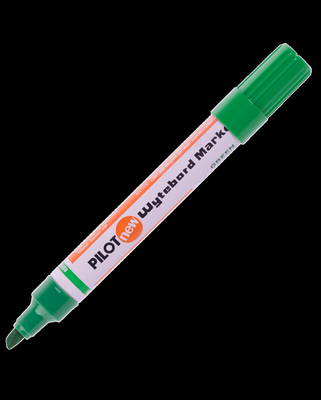 ปากกาไวท์บอร์ดหัวตัด Pilot WBMK-B สีเขียว 4.5-5 มม.