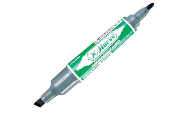 ปากกามาร์คเกอร์2 หัว ตราม้า  สีเขียว