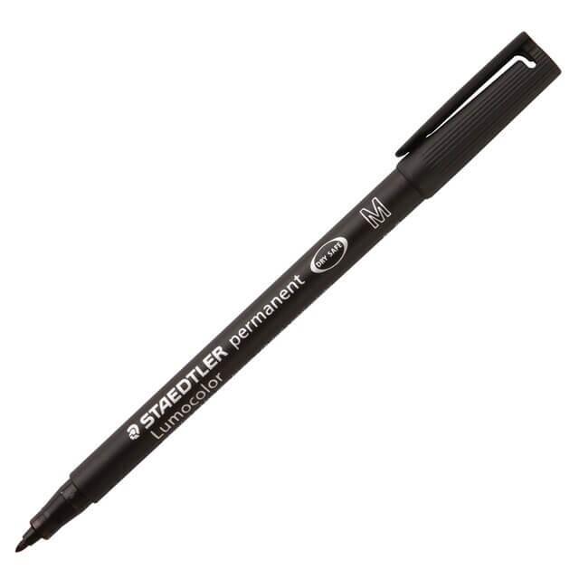 ปากกาเขียนแผ่นใส ลบไม่ได้ Staedtler 317-9 (M) สีดำ 1.0 มม.