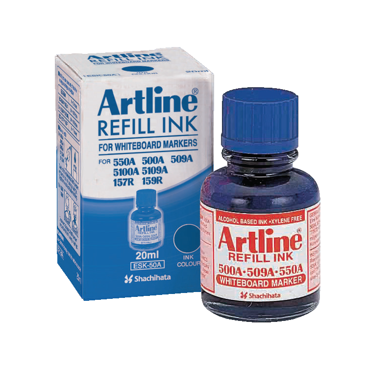 หมึกเติมปากกาไวท์บอร์ด Artline ESK-50A สีน้ำเงิน