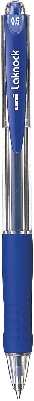 ปากกาลูกลื่นแบบกด uni Laknock SN-100 สีน้ำเงิน 0.5 มม.