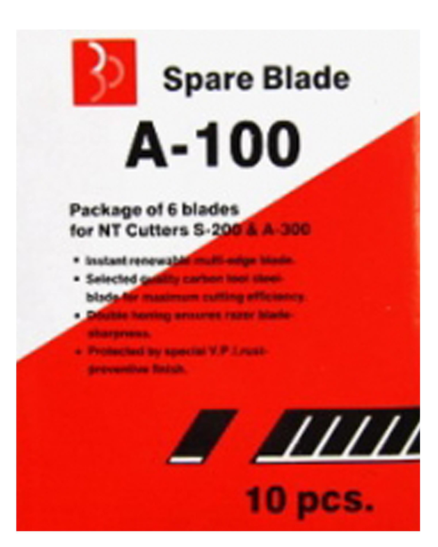 ใบมีดคัตเตอร์ ตราใบโพธิ์ A-100 9 มม. (6ใบ)