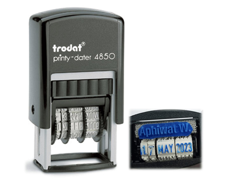 ตรายางวันที่ Trodat TR-4850 EBU สีน้ำเงิน (3.8 มม.)