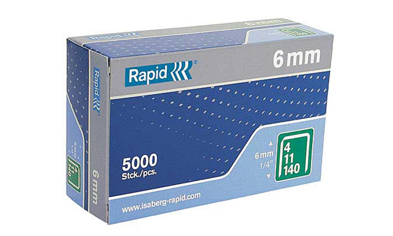 ลวดเย็บกระดาษ Rapid No.140/6 (5000 เข็ม/กล่อง)