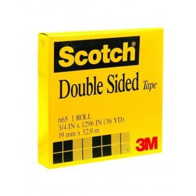 เทปใสกาวสองหน้าแกน 3 นิ้ว Scotch 665 3/4 นิ้วx36 หลา