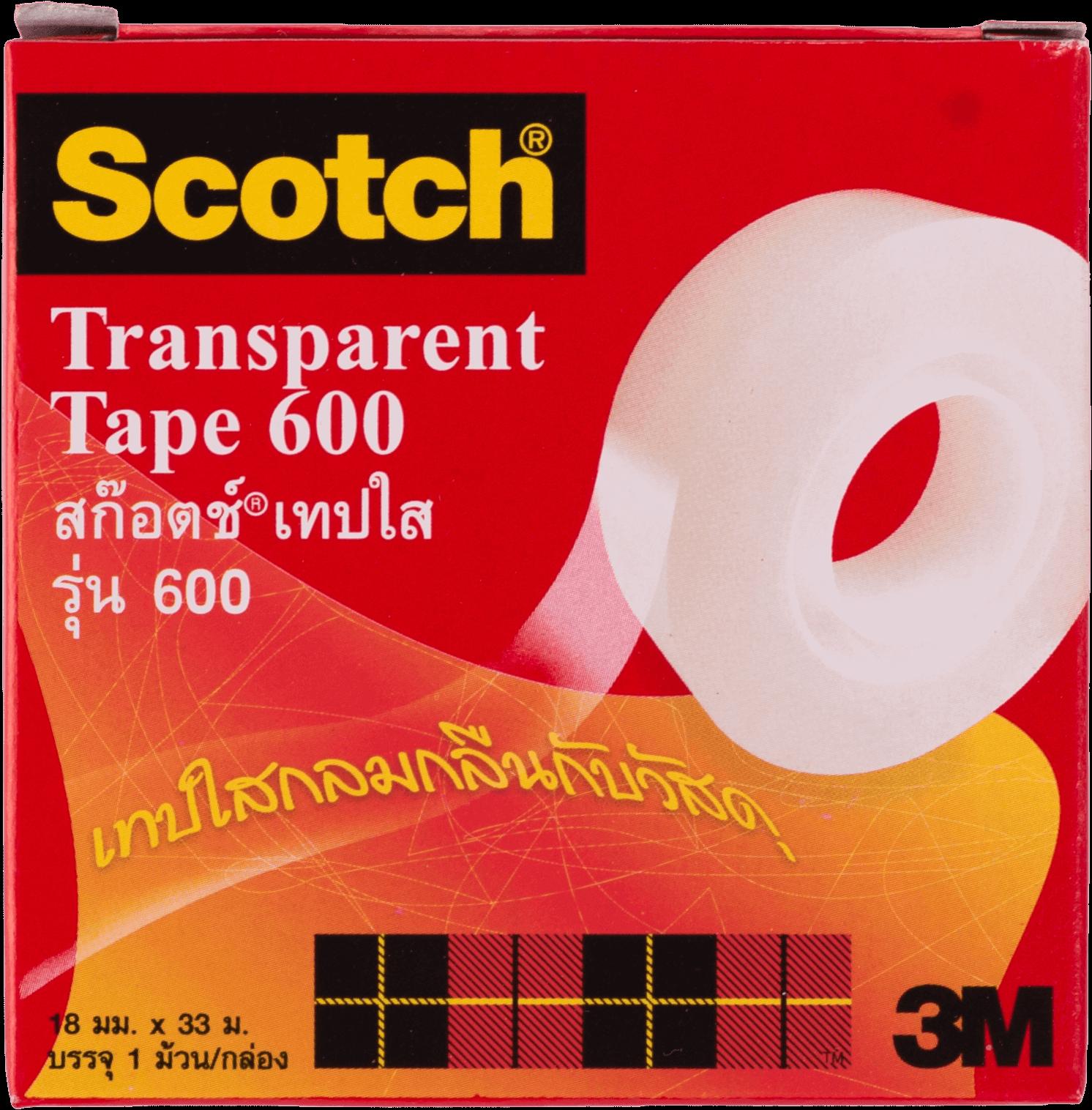 เทปใสแกน 1 นิ้ว Scotch 600 3/4 นิ้วx72 หลา