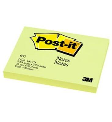 กระดาษโน๊ตกาวในตัว Post-it Notes Canary 657 สีเหลือง