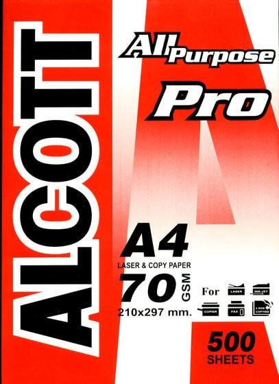 กระดาษถ่ายเอกสาร A4 70 แกรม Alcott Pro ห่อสีแดง