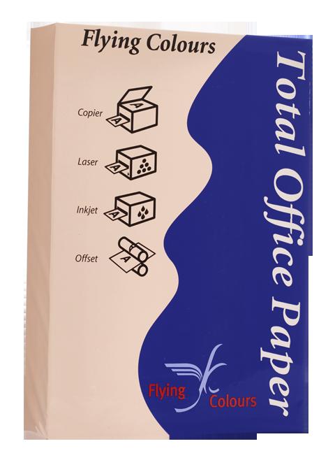 กระดาษถ่ายเอกสารสี Flying 18 สีชมพู A4 / 80 แกรม (1x500)