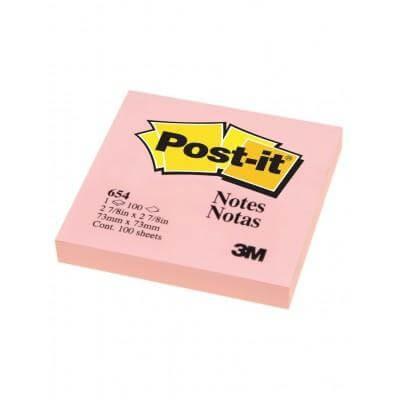 กระดาษโน๊ตกาวในตัว Post-it  สีชมพู 654-PK