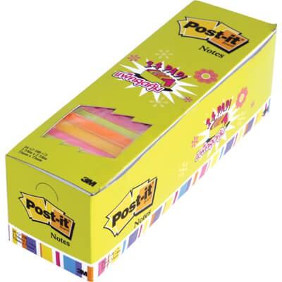 กระดาษโน๊ตกาวในตัว Post-it  รุ่นสุดคุ้ม คละสีนีออน  654-24 Neon