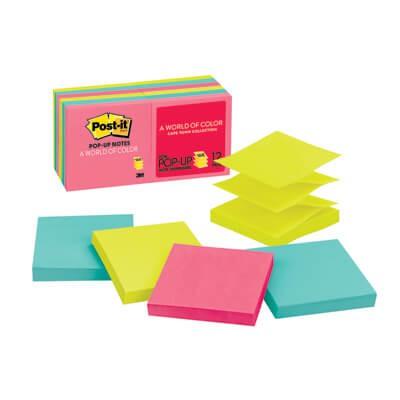 กระดาษโน๊ตกาวในตัว Post-it  ป๊อปอัพ นีออนคละสี R330-12AN