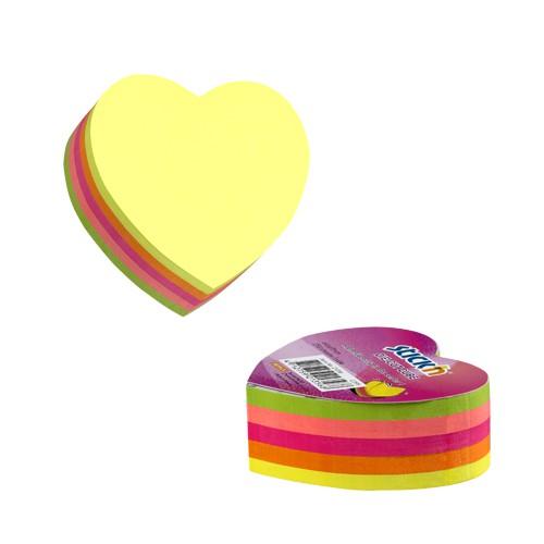 กระดาษโน๊ตกาวในตัว Stick'n 21356 หัวใจ 5 สี