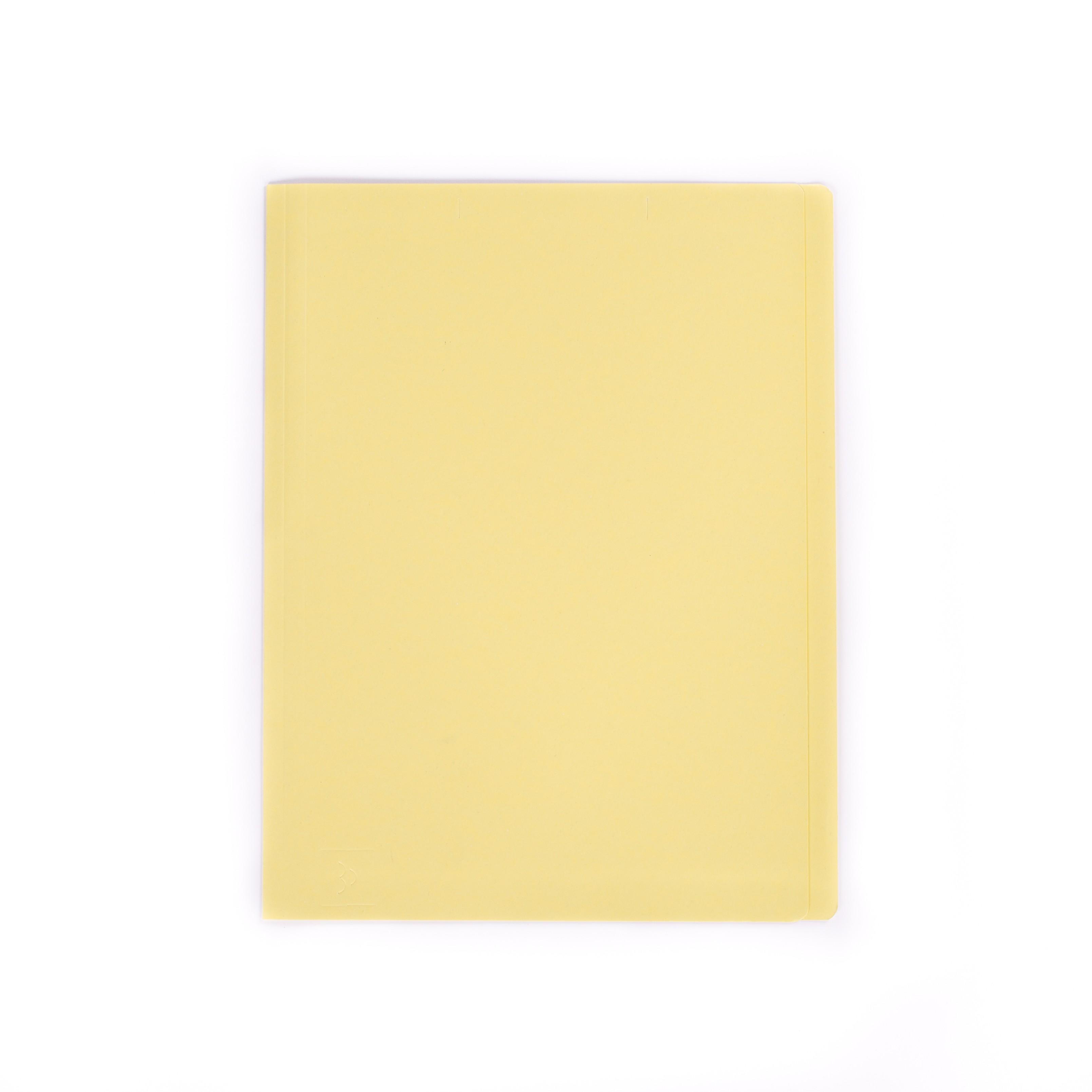แฟ้มพับกระดาษ ตราใบโพธิ์ สีเหลือง A4