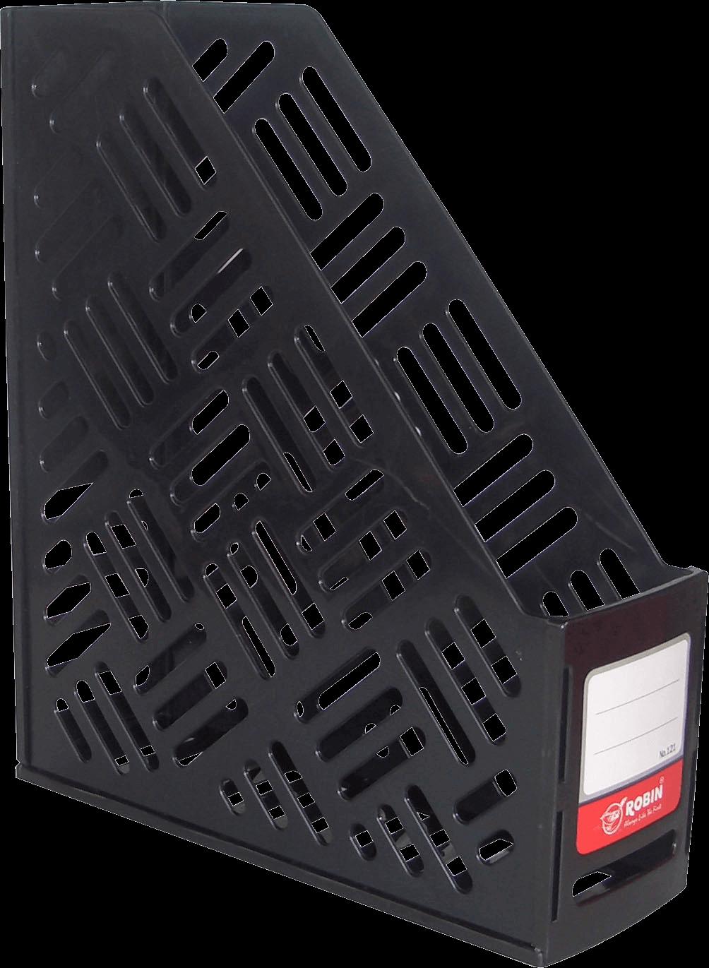 กล่องใส่เอกสารพลาสติก 1 ช่อง Robin 121 สีดำ