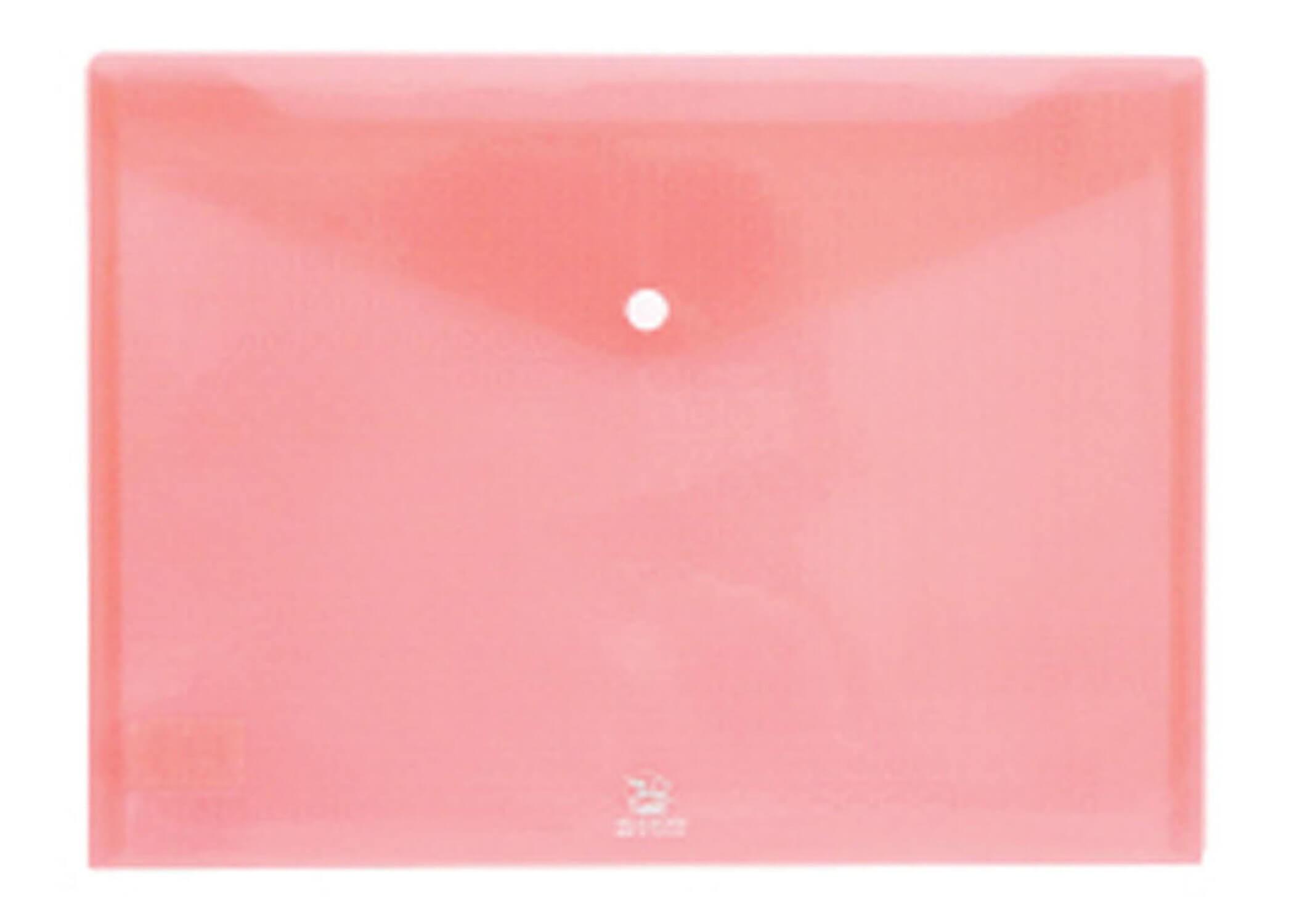 ซองกระดุมพลาสติก flamingo 9383 A4 สีชมพู