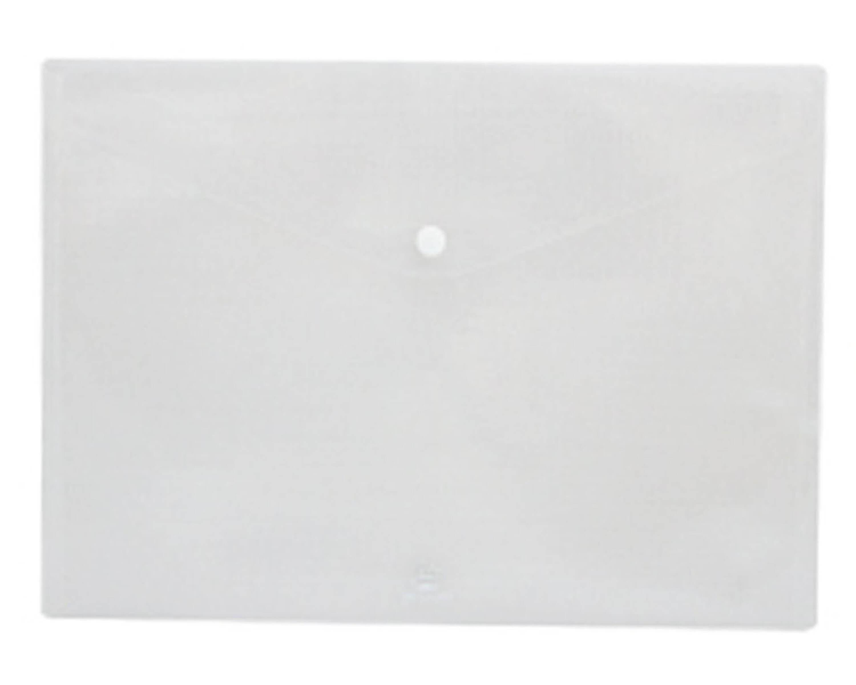 ซองกระดุมพลาสติก flamingo 9383 A4 สีขาว