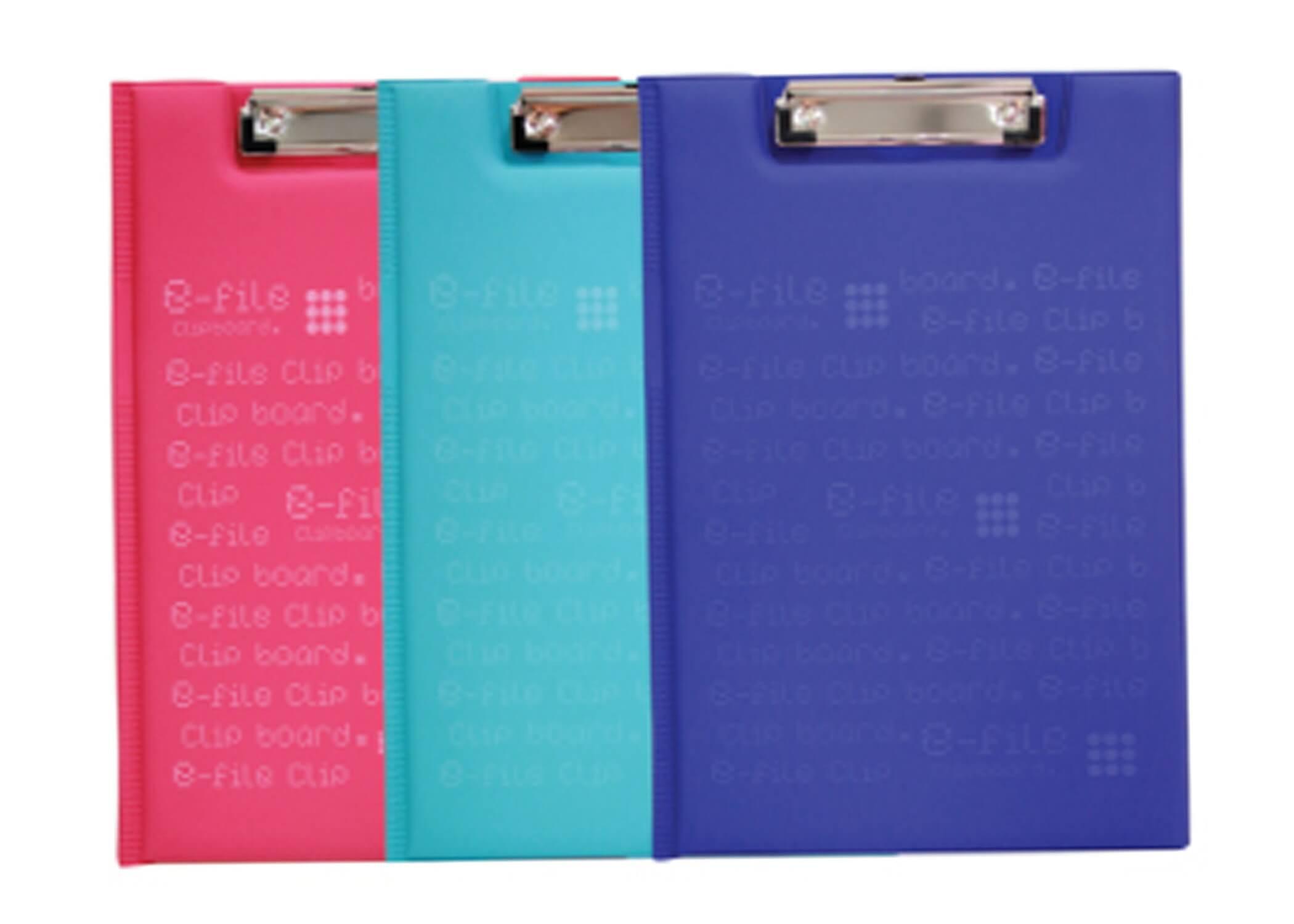 คลิปบอร์ด F4 e-file สีชมพู CCB1