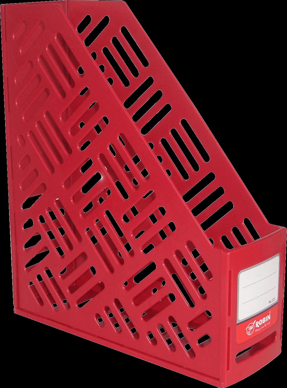 กล่องใส่เอกสารพลาสติก 1 ช่อง Robin 121 สีแดง