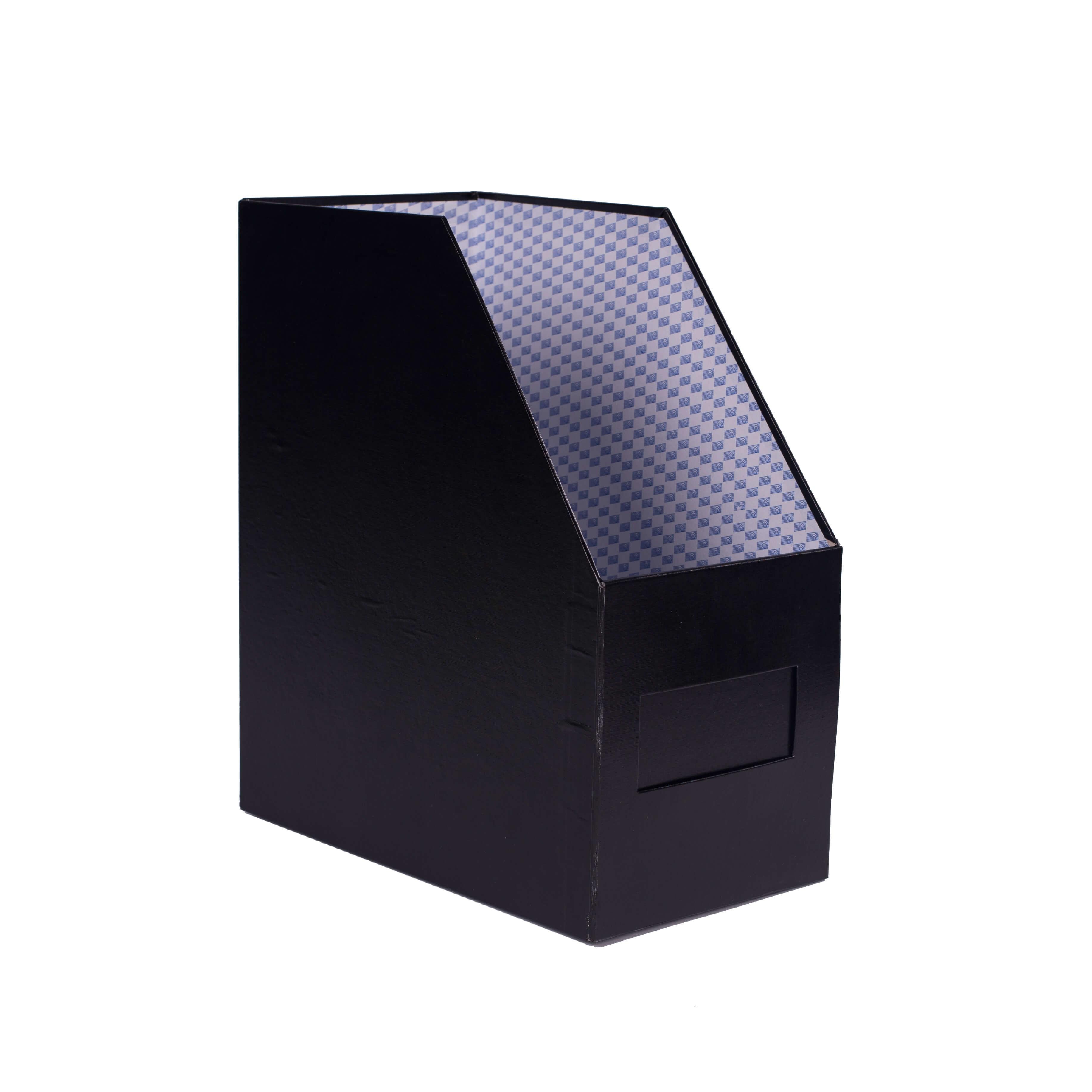 กล่องใส่เอกสาร 1 ช่อง ตรากวาง 7 นิ้ว สีดำ