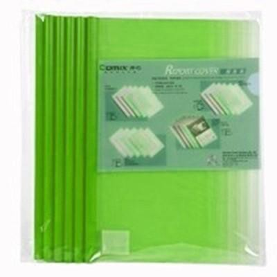 แฟ้มสันรูด Comix Q310 สีเขียว A4/5 มม. (1x6)