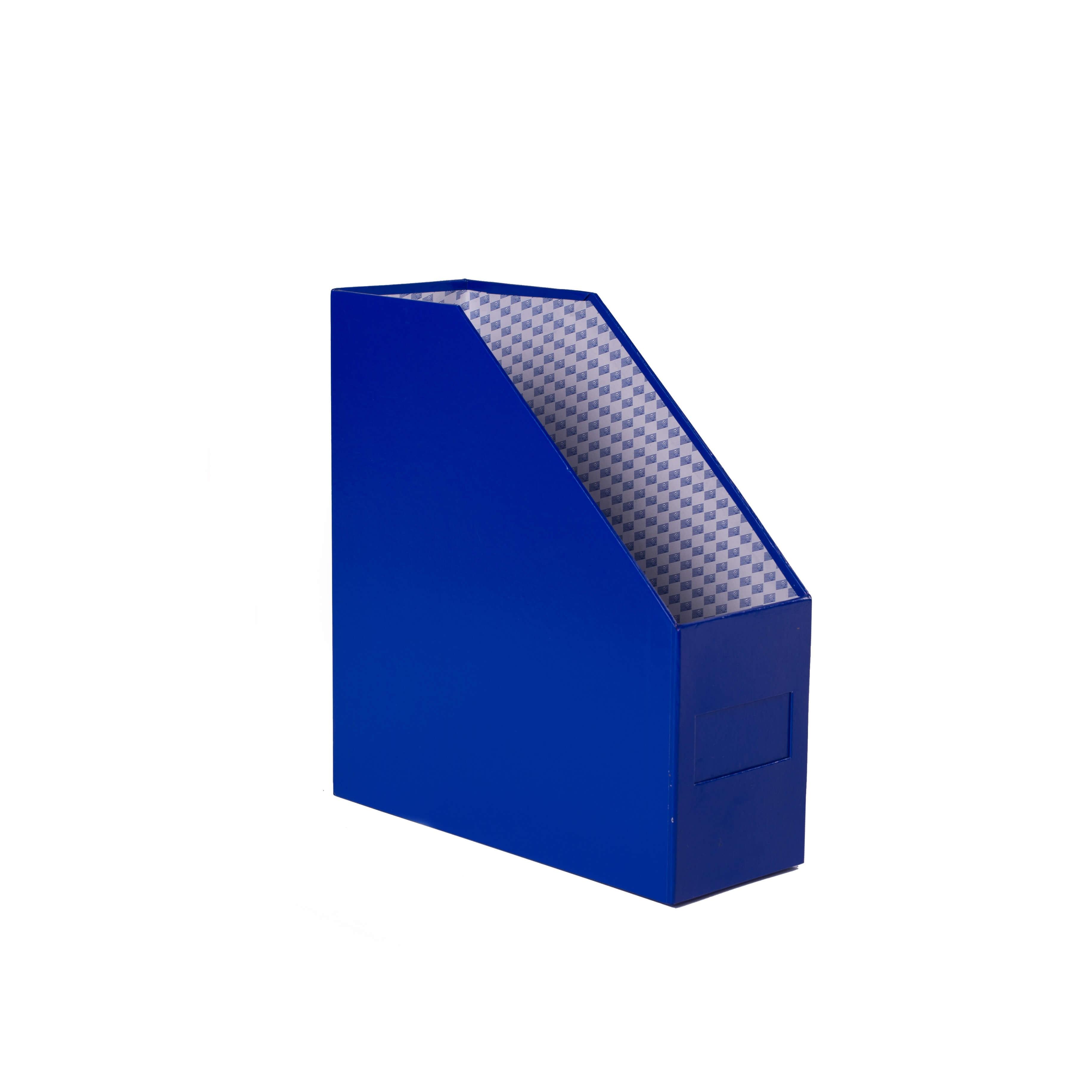 กล่องใส่เอกสาร 1 ช่อง ตรากวาง 4 นิ้ว สีน้ำเงิน
