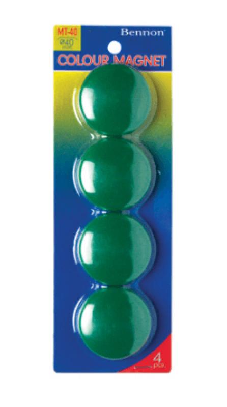 เม็ดแม่เหล็ก Bennon MT-40 สีเขียว 40 มม. (1x4)