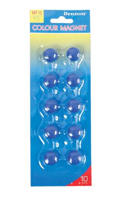 เม็ดแม่เหล็ก Bennon MT-15 สีน้ำเงิน 1.5 ซม. (1x10)
