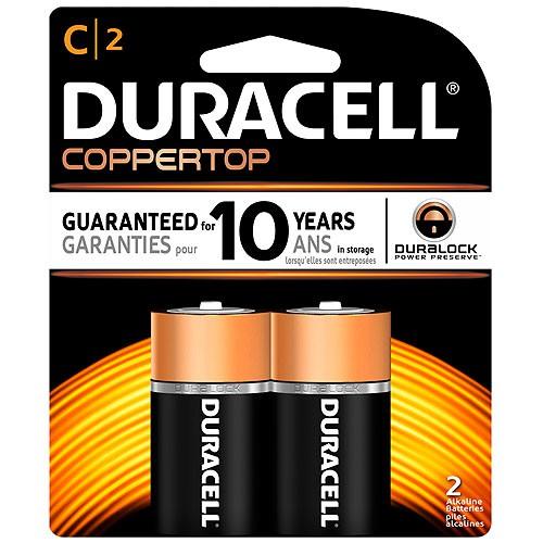 ถ่าน Duracell Alkaline 1.5V Size C (1x2)