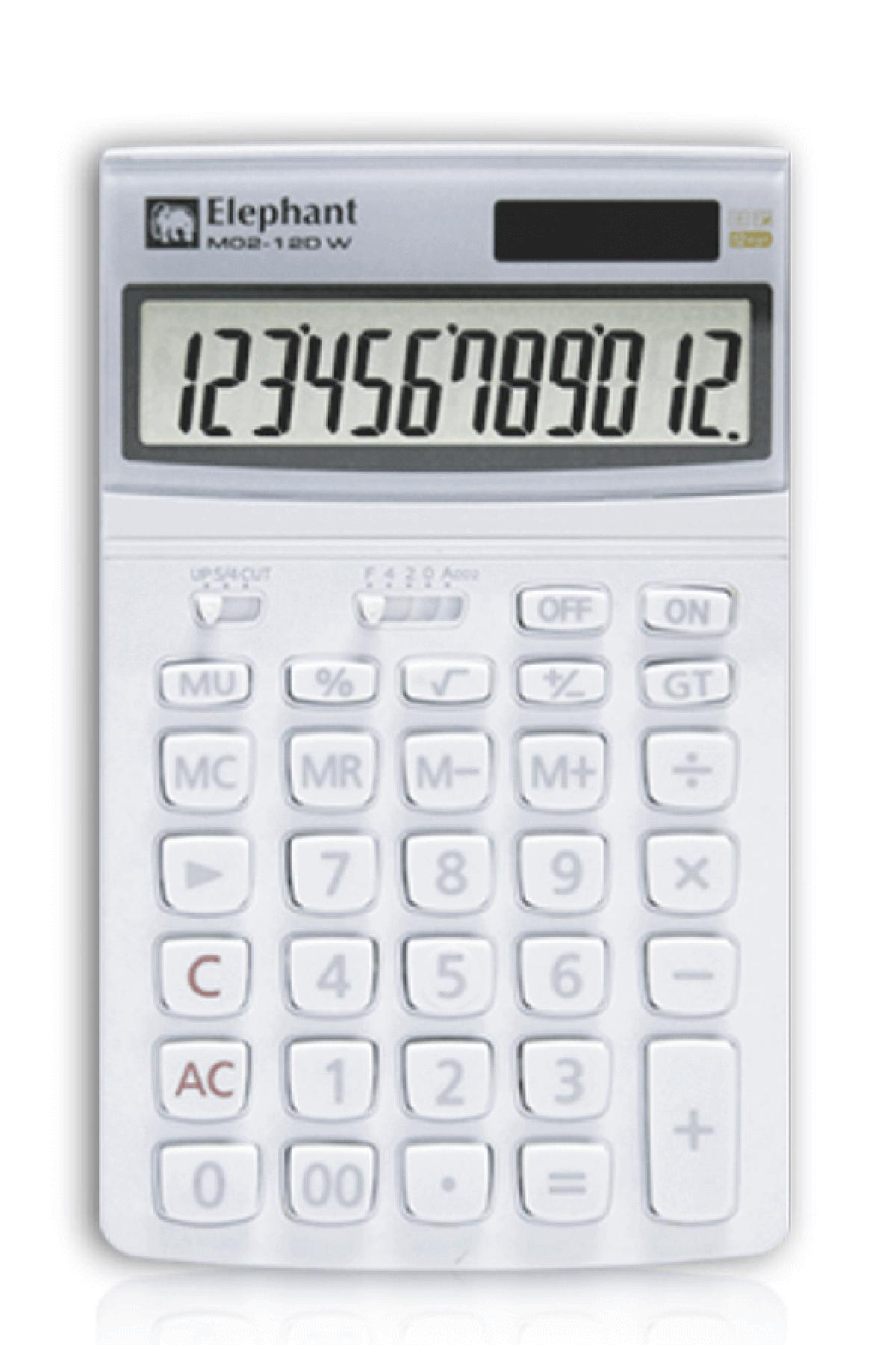 ตราช้าง เครื่องคิดเลข รุ่น M02-12DW