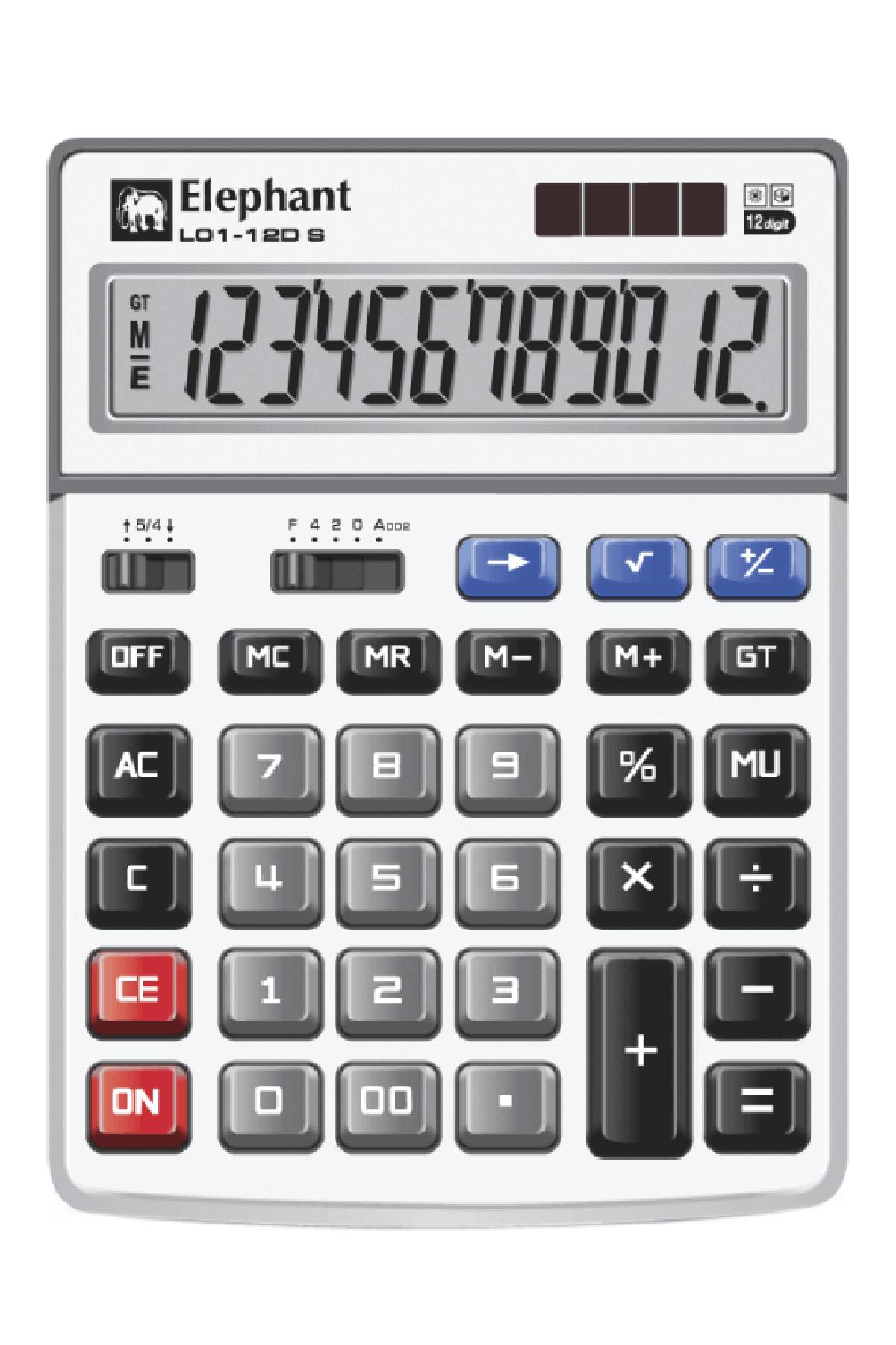 ตราช้าง เครื่องคิดเลข รุ่น L01-12DS