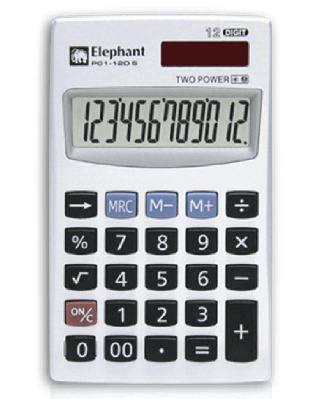 ตราช้าง เครื่องคิดเลข รุ่น P01-12DS