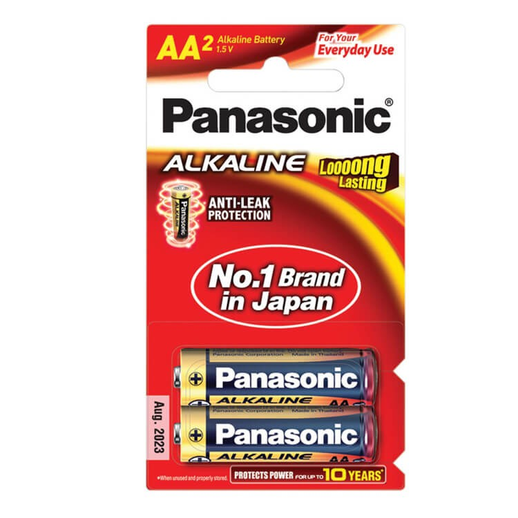 ถ่าน Panasonic ALKALINE LR6T/4B AA (1x4)