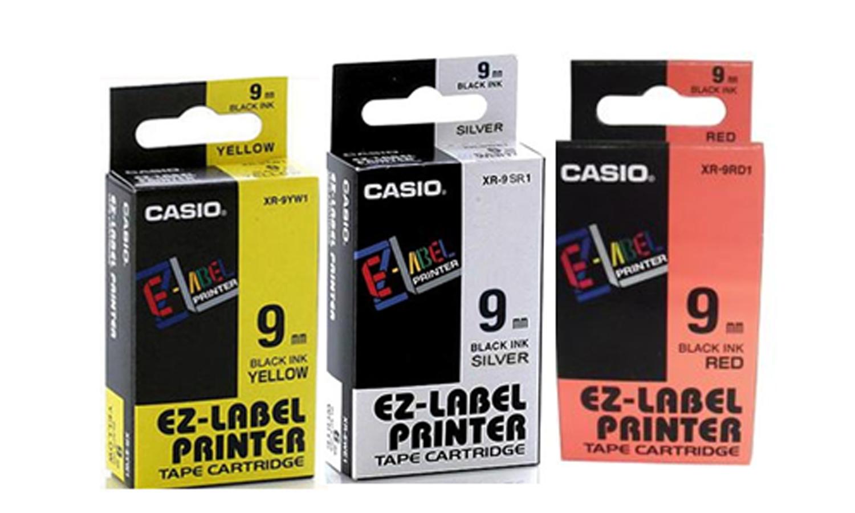 เทปพิมพ์อักษร Casio IR-9YW1 สีเหลือง