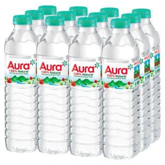 น้ำแร่ธรรมชาติ ตรา Aura 0.5 ลิตร