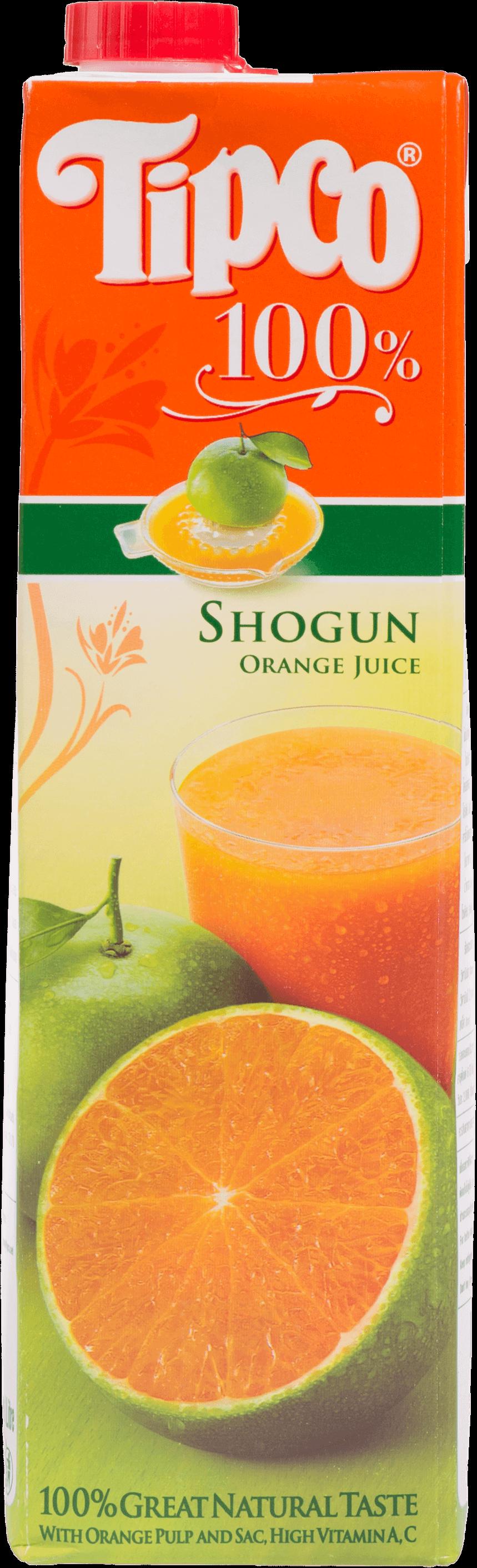 น้ำส้มโชกุน Tipco 100% 1000 มล.