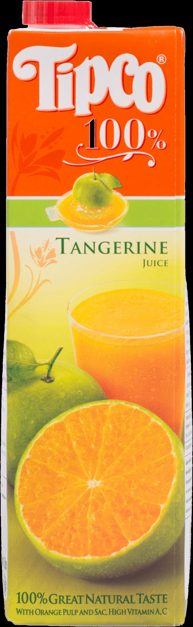 น้ำส้มเขียวหวาน 100% Tipco 1,000 มล.