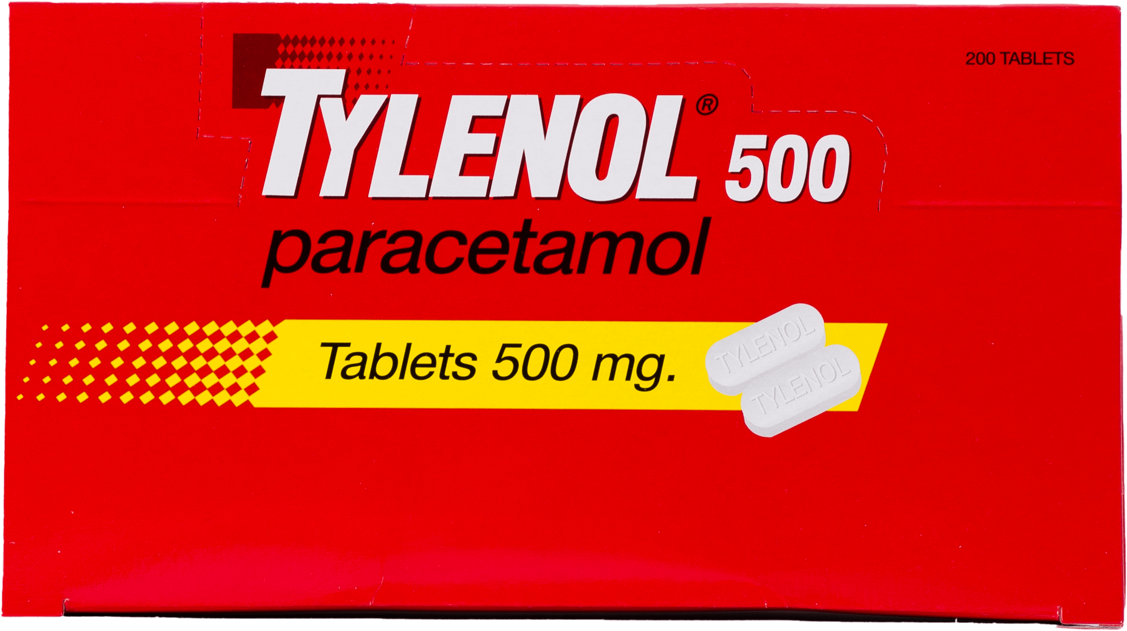 ยาเม็ดพาราเซตามอล แก้ปวดลดไข้ Tylenol 500 มก. 20 แผง