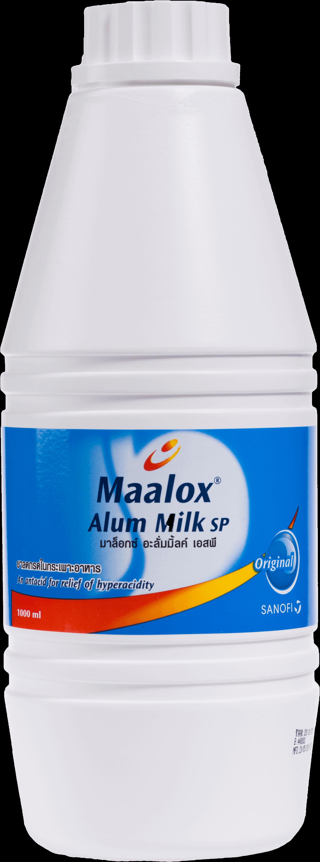 ยาลดกรดในกระเพาะอาหาร Maalox Alum Milk ขนาด 1,000 มล.