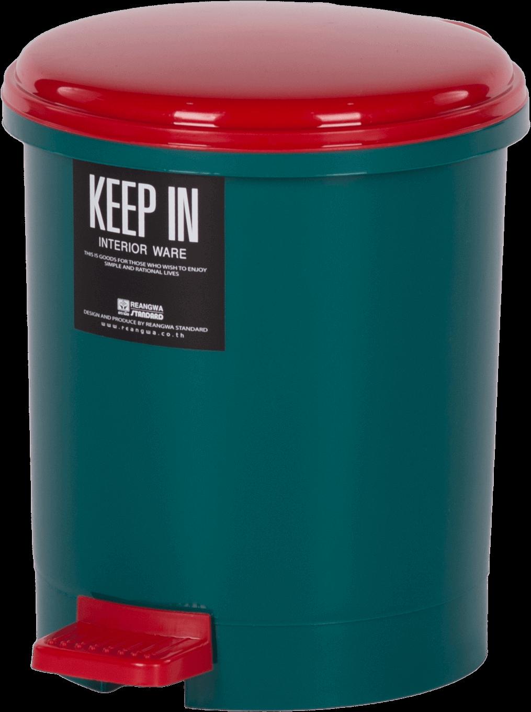 ถังขยะแบบมีฝาปิด สแตนดาร์ด No. RW9084 สีแดง