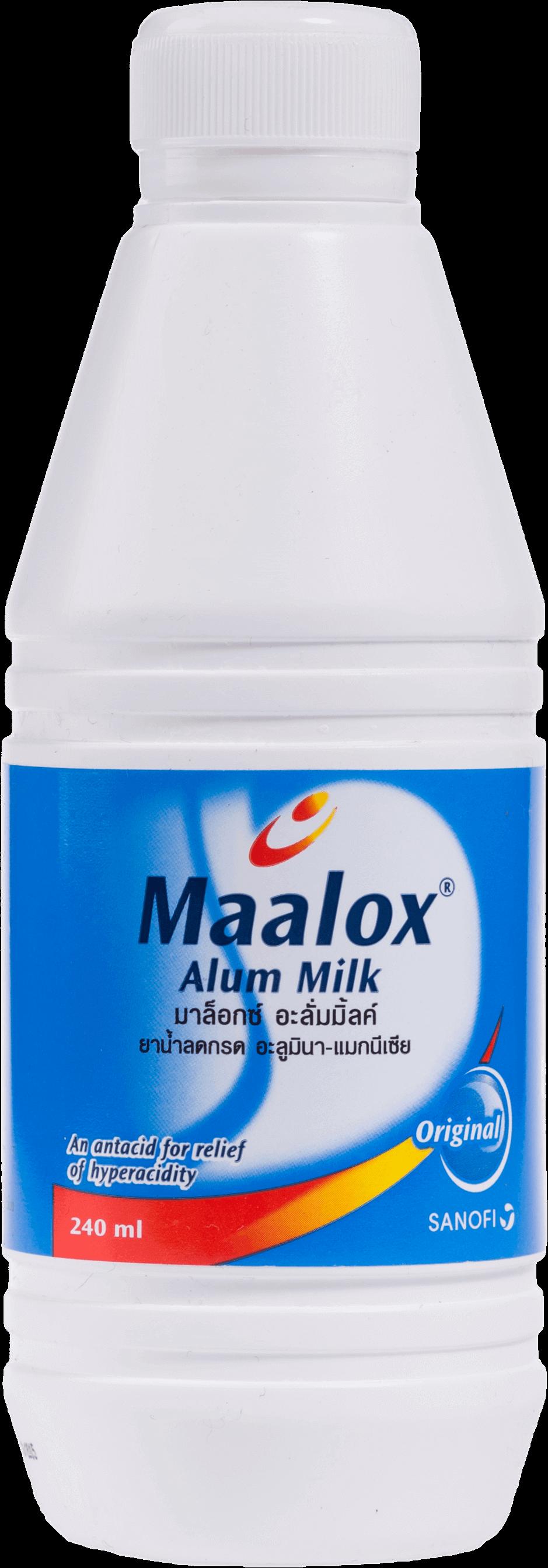 ยาลดกรดในกระเพาะอาหาร Maalox Alum Milk ขนาด 240 มล.