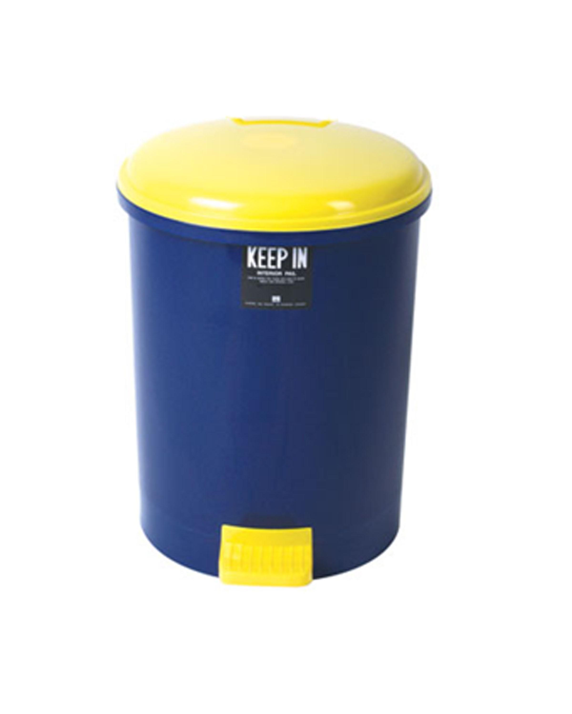 ถังขยะแบบมีฝาปิด(เท้าเหยียบ) Standard  No. RW9085 18ลิตร สีน้ำเงิน
