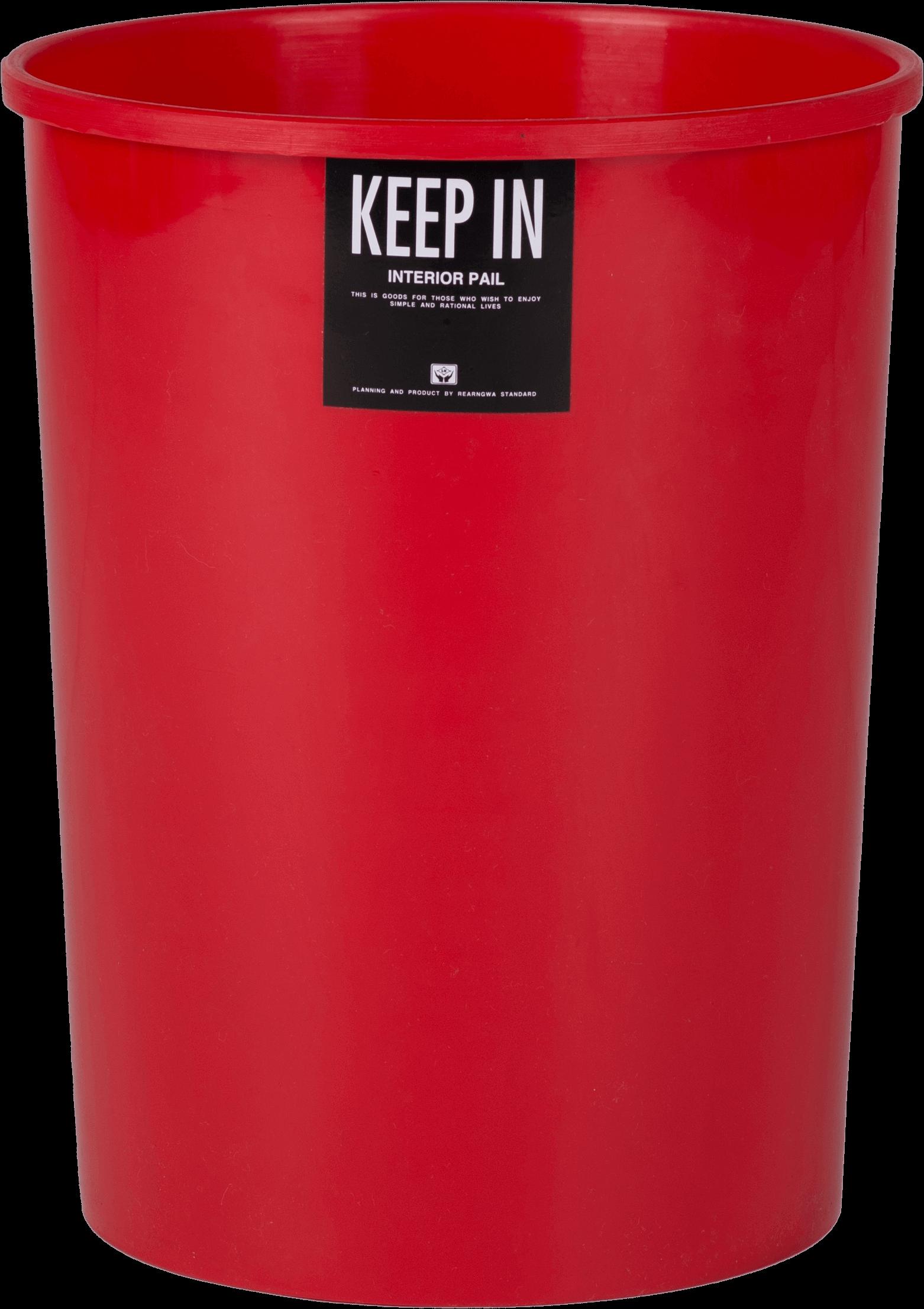 ถังขยะ สแตนดาร์ด No. RW9073 สีแดง
