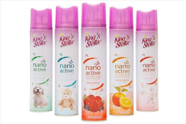 สเปรย์ปรับอากาศ  King's Stella Nano White Sakura300ml.