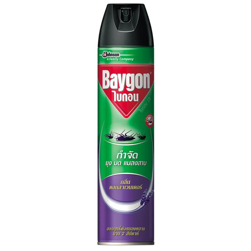 สเปรย์กำจัดยุง มด แมลงสาป ไบกอน 600 ml.กลิ่นลาเวนเดอร์