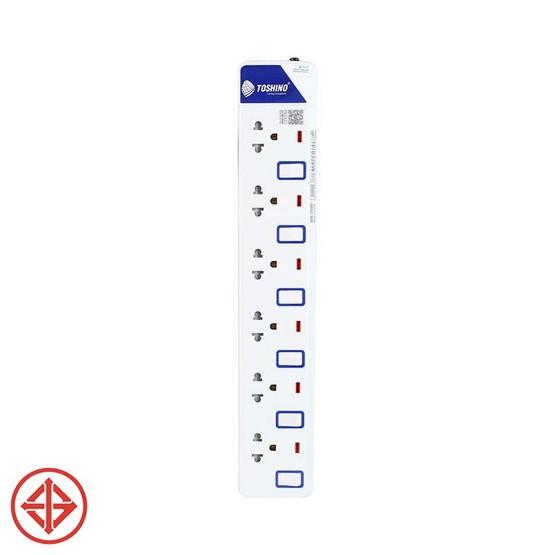 ปลั๊กไฟ Toshino E-9165M 6ช่อง 6สวิตช์ 5เมตร E-9165M